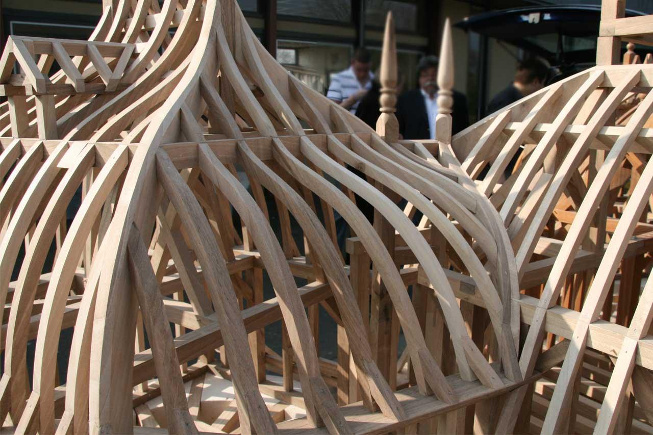 maquette batyr charpente baty 39 r le bois dans les veines. Black Bedroom Furniture Sets. Home Design Ideas