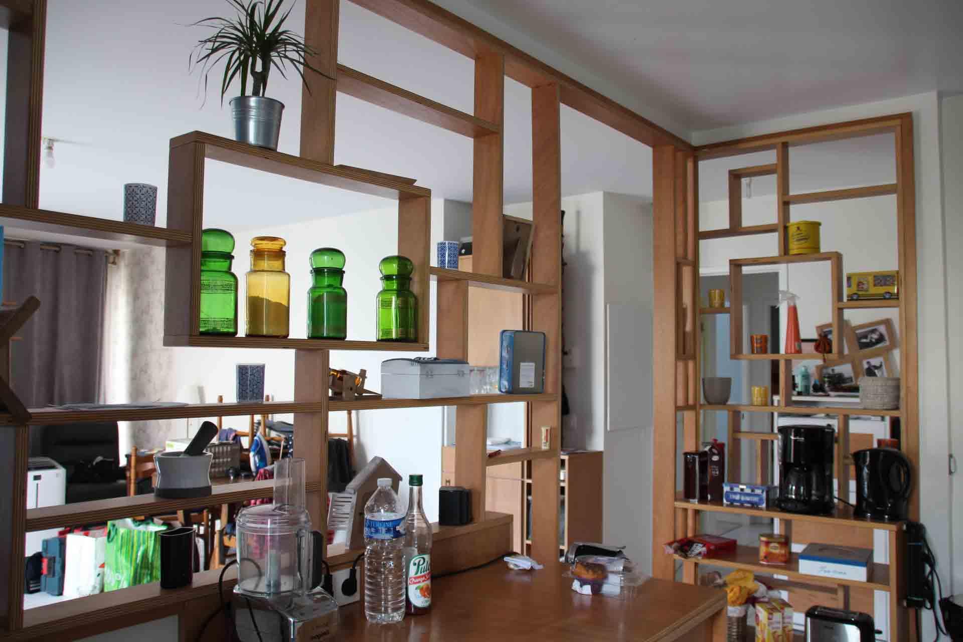 Cuisine ouverte sur salon artisan 91 baty 39 r le bois - Photo cuisine ouverte sur salon ...